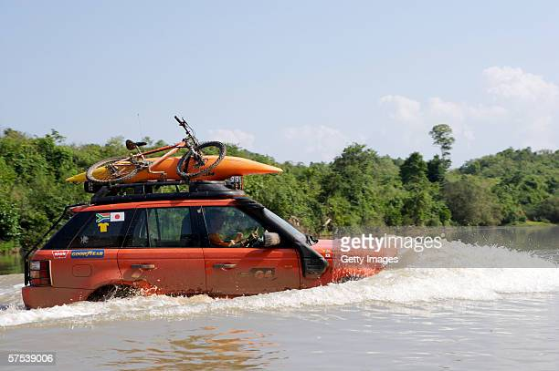 Competitors during the 2006 Land Rover G4 Challenge on May 4th, 2006 in Laos. Thousands of entries were received from adventure athletes worldwide...