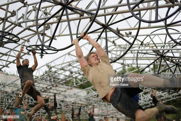 Competitors during the 2017 Tough Mudder South West at Badminton Estate on August 20 2017 in Cirencester England
