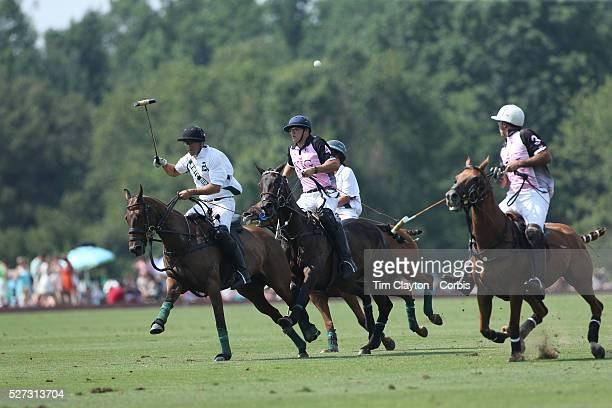 Competitors in action during the White Birch Vs KIG Polo match in the Butler Handicap Tournament match at the Greenwich Polo Club White Birch won the...