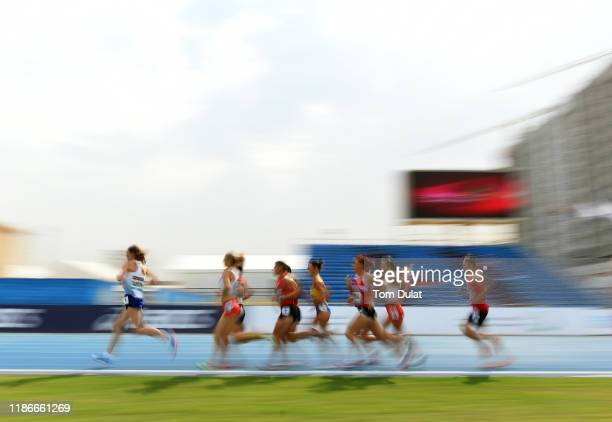 Competitors in action during the Women's 1500m T20 Final race on Day Four of the IPC World Para Athletics Championships 2019 Dubai on November 10...