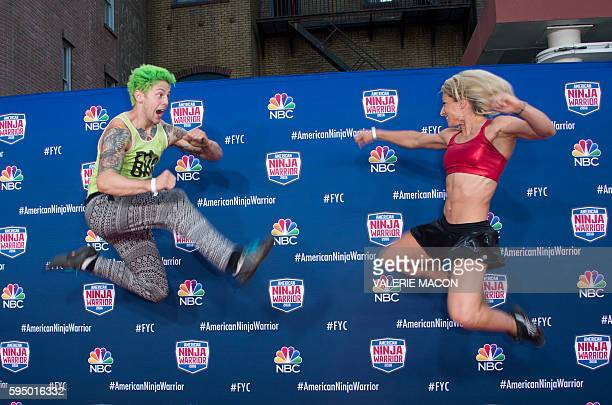 Competitors Jamie Rahn and Jessie Graff attend American Ninja Warrior screening and course demonstration In celebration of the show's first Emmy...