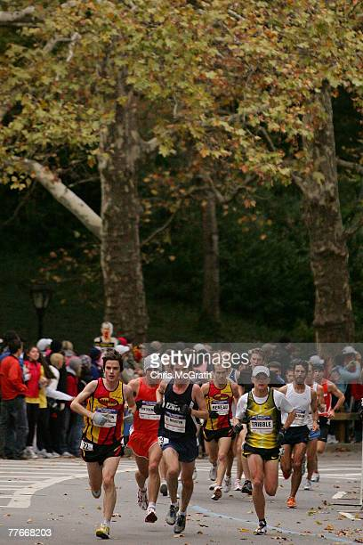 Competitors make there way through Central Park during the US Olympic Team Trials Men's Marathon held in Central Park November 3 2007 in New York City