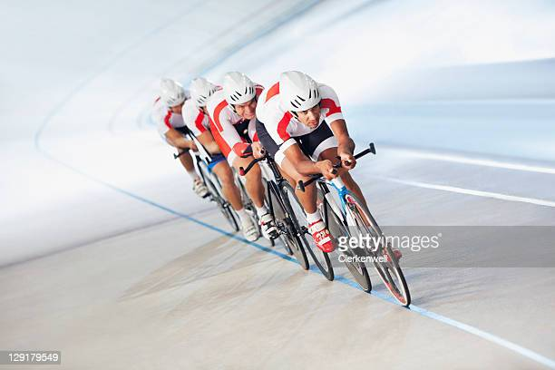 Competitors on cycling track