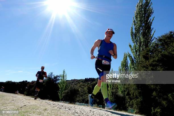 Competitors run around the Outlet Track during the 2018 Challenge Wanaka on February 17 2018 in Wanaka New Zealand