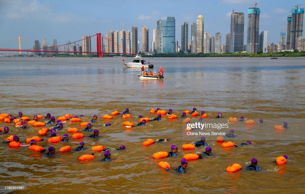 45th Wuhan International Yangtze River Crossing Festival : News Photo