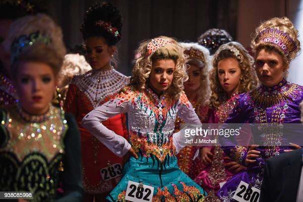 Competitors take part in day three of the World Irish Dancing Championships on March 26 2018 in Glasgow Scotland The World Irish Dancing...