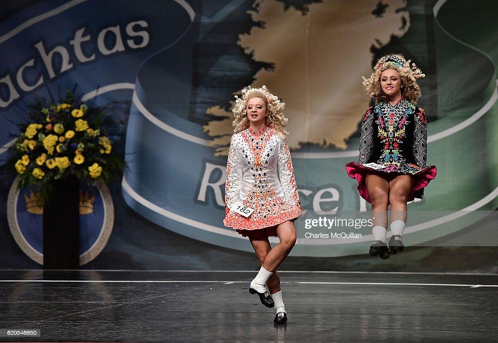 High Kicks At The All Ireland Irish Dancing Championships : News Photo