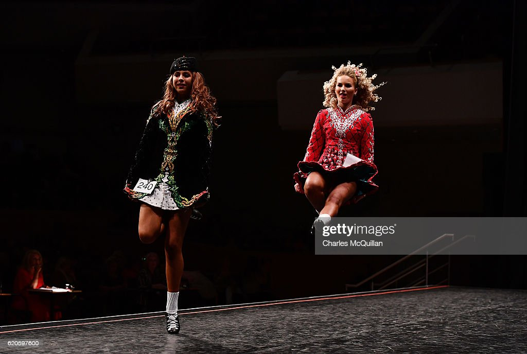 High Kicks At The All Ireland Irish Dancing Championships : News Photo