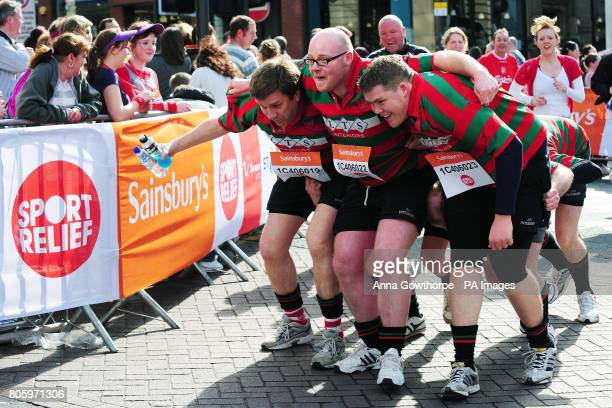 Competitors take part in the Sport Relief Mile event in Leeds city centre The charity is raising funds for the poor in the UK and abroad