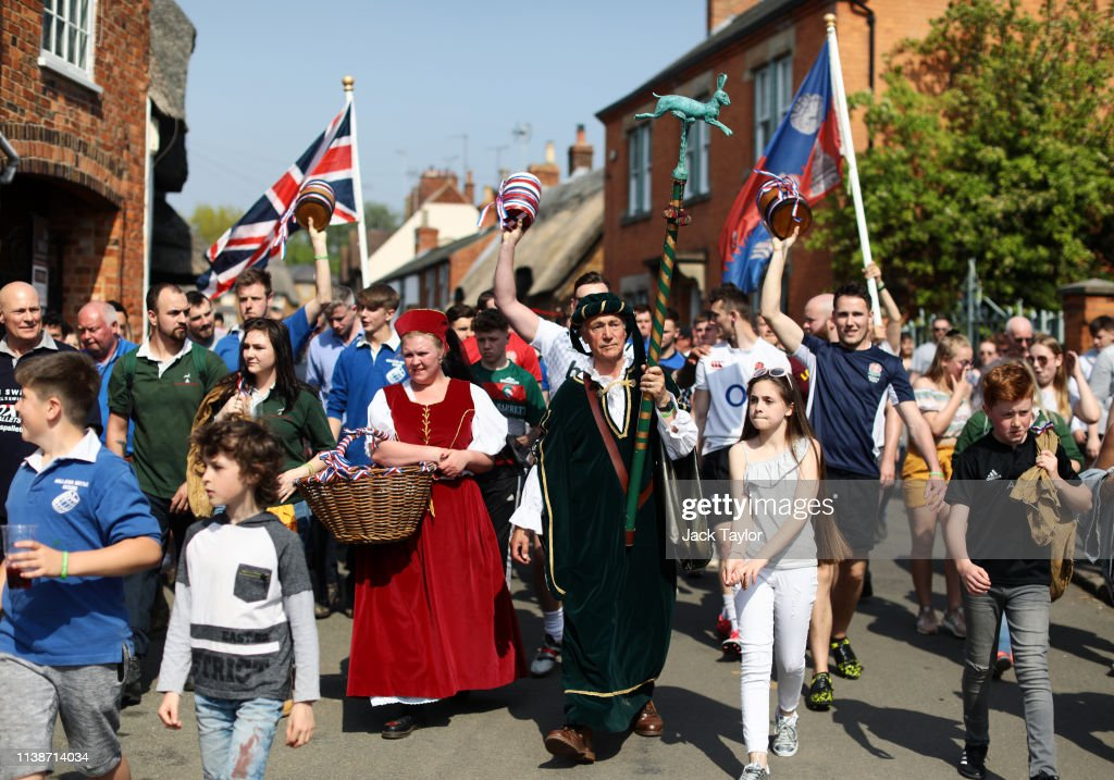 GBR: Hare Pie Scramble And Bottle Kicking Traditional Easter Monday Celebration