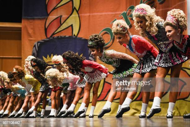 Competitors take part in the World Irish Dancing Championships on March 25 2018 in Glasgow Scotland The World Irish Dancing Championships are taking...