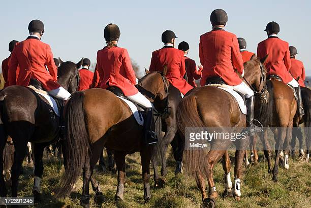 competitors together - fox hunting stock pictures, royalty-free photos & images