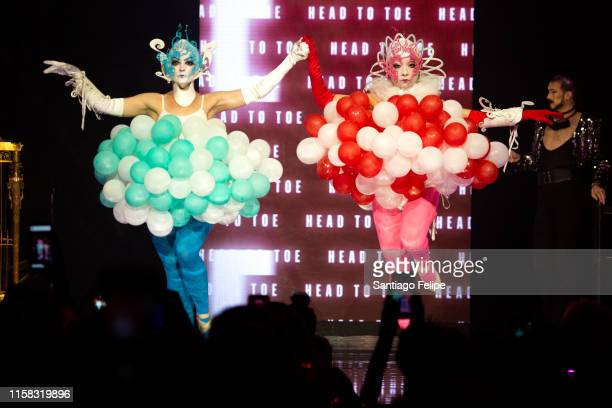 Competitors walk the runway onstage during the Love Ball III at Gotham Hall on June 25 2019 in New York City