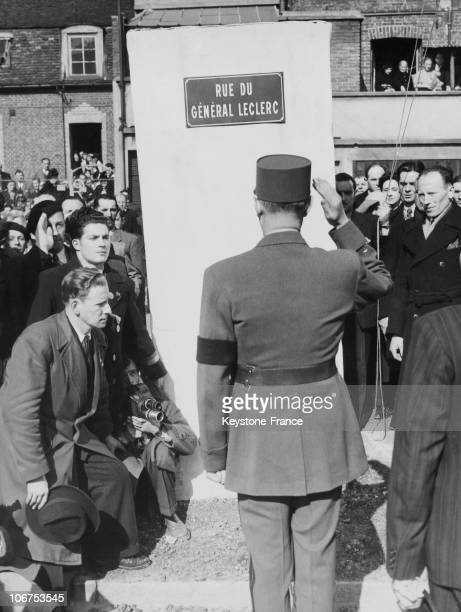 Compiegne, Le General De Gaulle Opening The General Leclerc Street In 1948