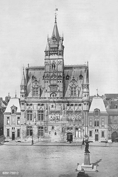 The Hotel de Ville' 1914 From The Manchester Guardian History of the War 1914 Vol I [John Heywood Ltd London 1914] Artist Unknown