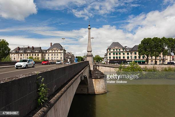 compiegne, town view, oise river - compiegne stock pictures, royalty-free photos & images