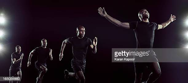 compilation of shots of  athelete running - athlete stock pictures, royalty-free photos & images
