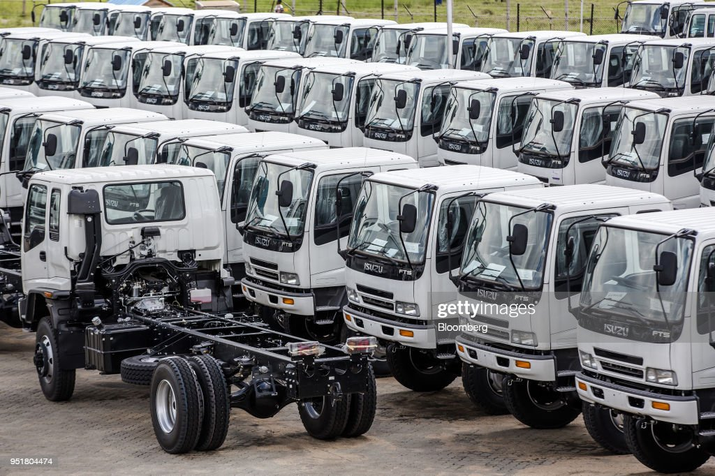 Completed Isuzu FTS 33H F-Series trucks sit parked ready for