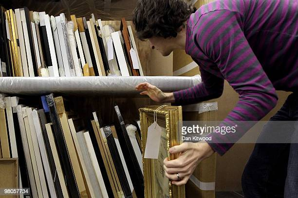 Completed works are stored at The Royal Academy of Arts as they are handed in for the 242nd Summer Exhibition on March 26 2010 in London England The...