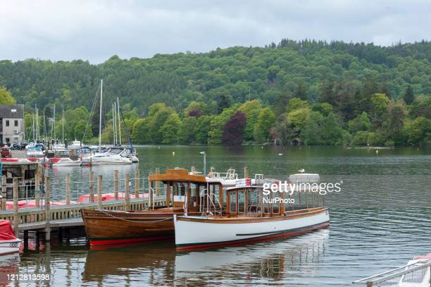 Completely deserted Lake Windermere in Bowness-on-Windermere, England, on May 12, 2020 during the lockdown imposed because of the COVID-19 Pandemic.