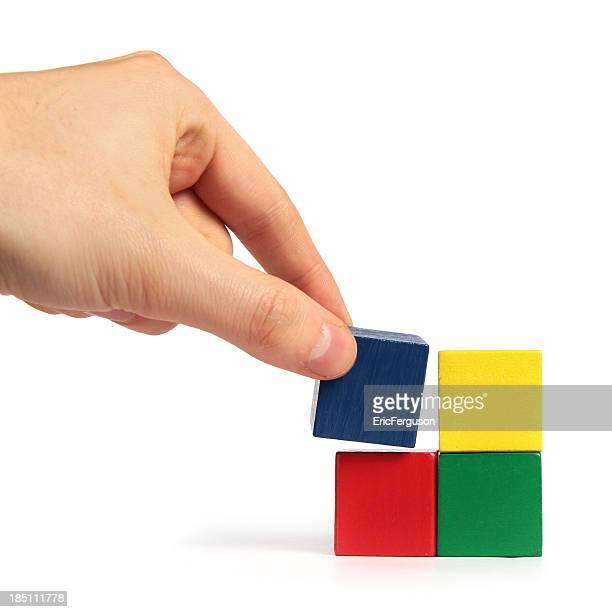 Abschluss des block puzzle cube