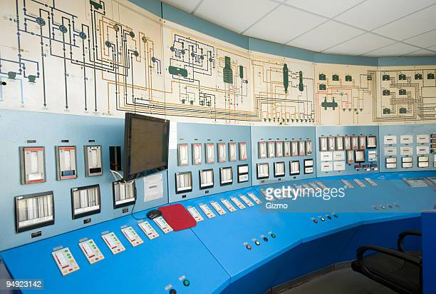 Complex and empty control room