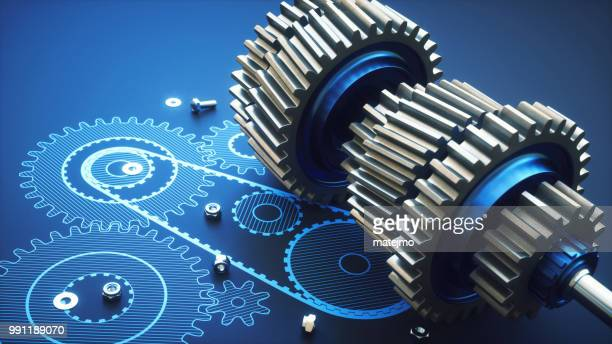 complex artificial gearbox machinery close up - gearshift stock photos and pictures