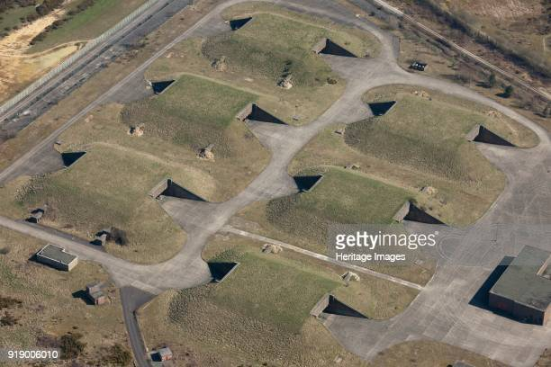 Complex Greenham Common West Berkshire circa 2010s Former USAAF munitions storage bunkers at the Ground Launched Cruise Missile Alert and Maintenance...