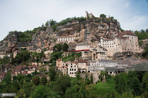 complex of rocamadour - rocamadour stock pictures, royalty-free photos & images