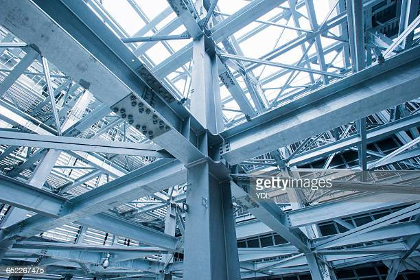 Complex steel structures.