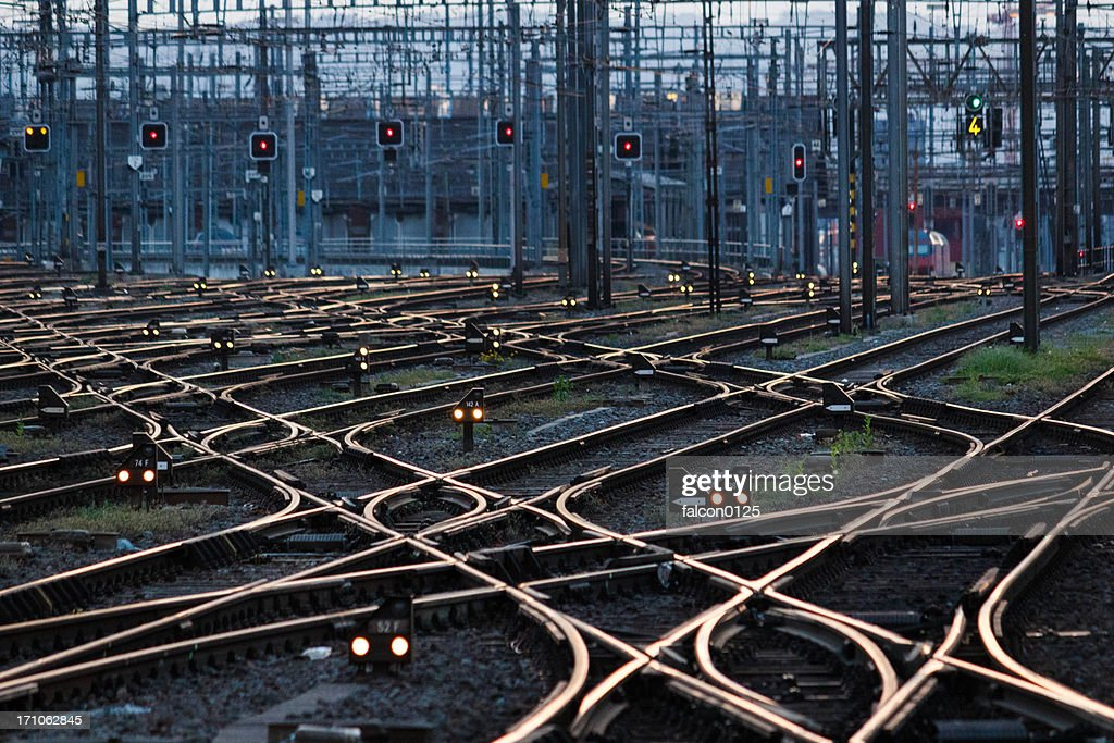 Complexity of rail : Stock Photo