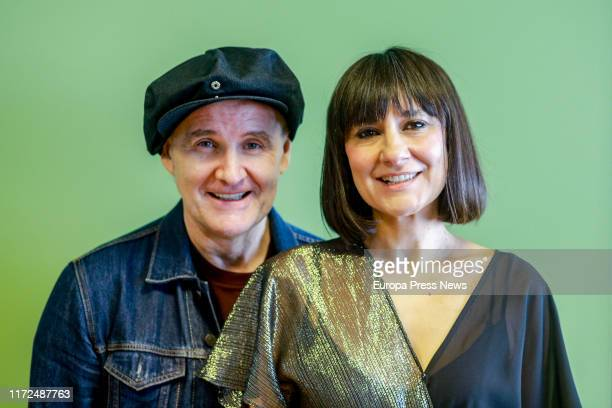 Components of the group Amaral Juan Aguirre and Eva Amaral are seen during an interview with Europa Press to present their new album 'Salto al color'...
