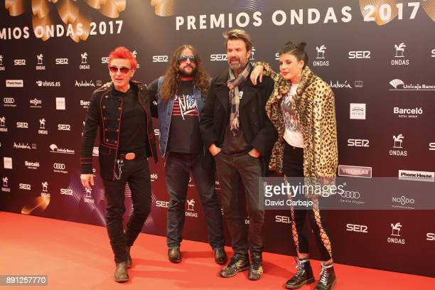 Componets of Jarabe De Palo attend the 63th Ondas Gala Awards 2016 at the FIBES on December 12 2017 in Seville Spain