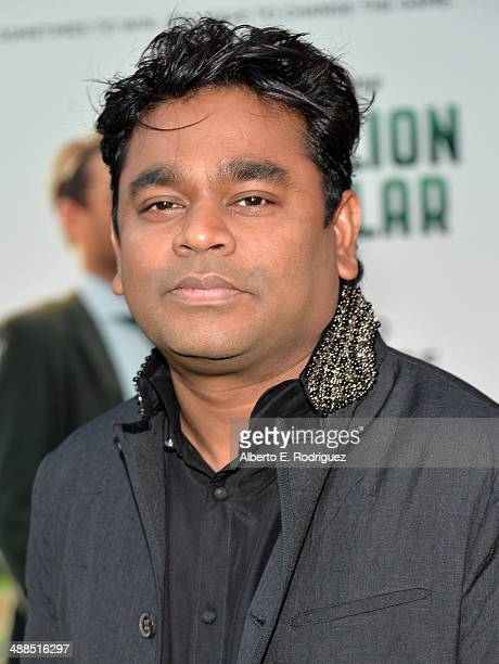 Composer A R Rahman attends the premiere of Disney's Million Dollar Arm at the El Capitan Theatre on May 6 2014 in Hollywood California