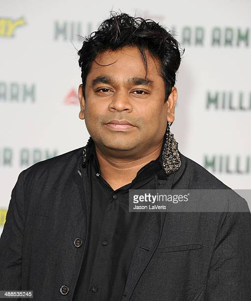 Composer A R Rahman attends the premiere of 'Million Dollar Arm' at the El Capitan Theatre on May 6 2014 in Hollywood California