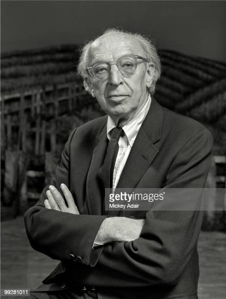 Composer Aaron Copland poses on the set of his opera 'The Tenderland' at Ruby Diamond Auditorium on the campus of Florida State University in May...