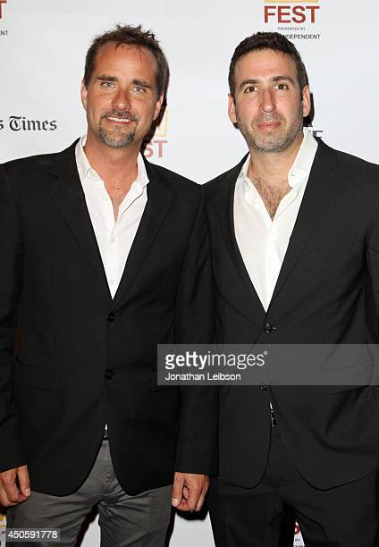 Composer Adam Balazs and director Seth Grossman attend the premiere of 'Inner Demons' during the 2014 Los Angeles Film Festival at Regal Cinemas LA...