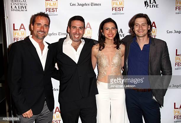 Composer Adam Balazs director Seth Grossman actors Lara Vosburgh and Morgan McClellan attend the premiere of 'Inner Demons' during the 2014 Los...