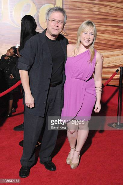 Composer Alan Menken and daughter Anna arrives at the Los Angeles premiere of 'Tangled' at the El Capitan Theatre on November 14 2010 in Hollywood...