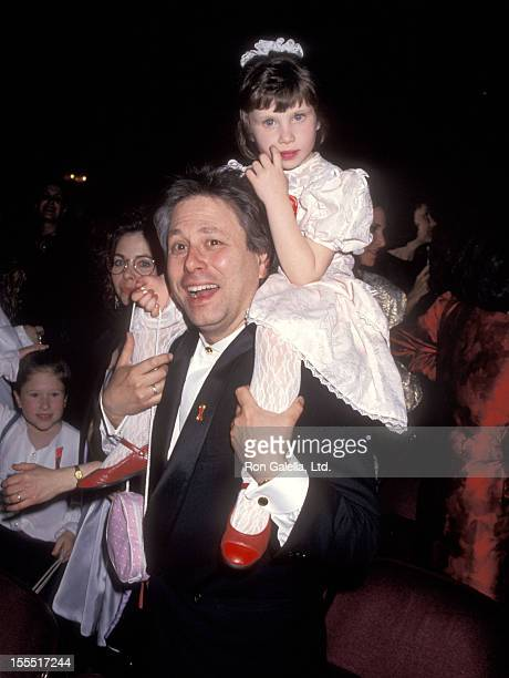 Composer Alan Menken and daughter Nora Menken attend the Beauty and the Beast Opening Night Performance on April 18 1994 at Palace Theatre in New...