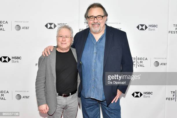 Composer Alan Menken and director Don Hahn attend a screening of 'Howard' during the 2018 Tribeca Film Festival at Cinepolis Chelsea on April 22 2018...