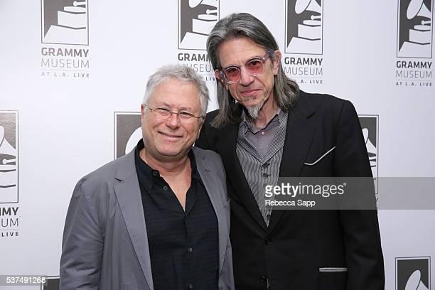 Composer Alan Menken and Vice President of the GRAMMY Foundation Scott Goldman attend An Evening With Alan Menken at The GRAMMY Museum on June 1 2016...