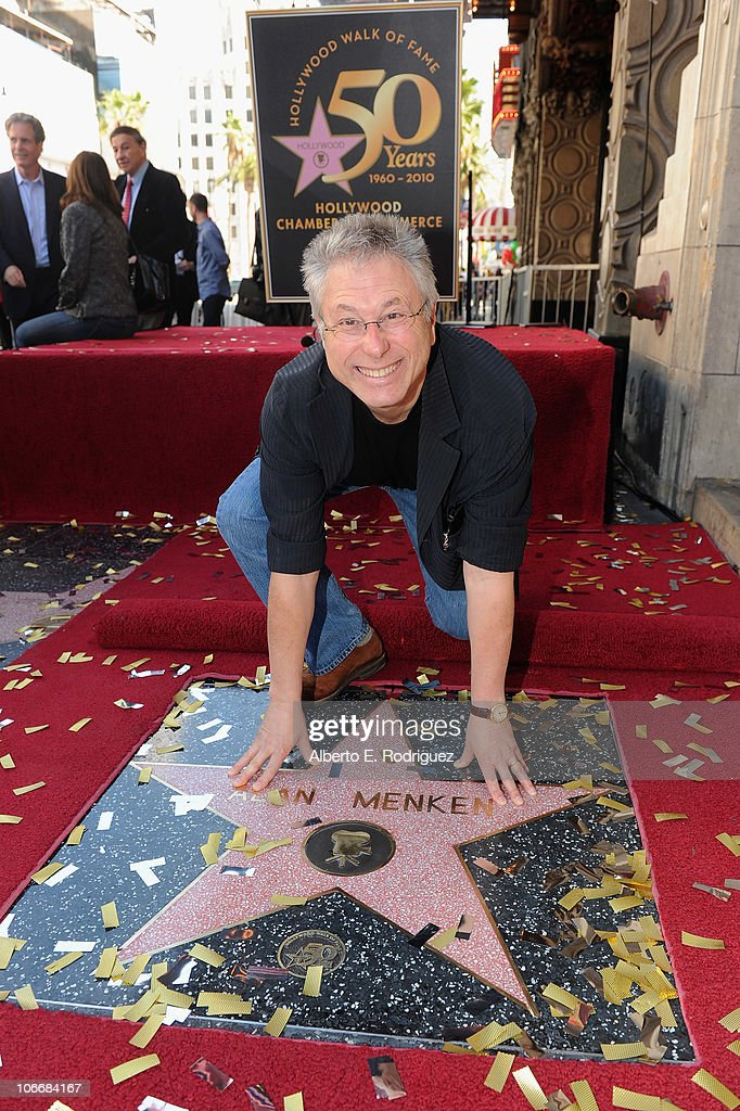 Alan Menken Honored On The Hollywood Walk Of Fame : News Photo