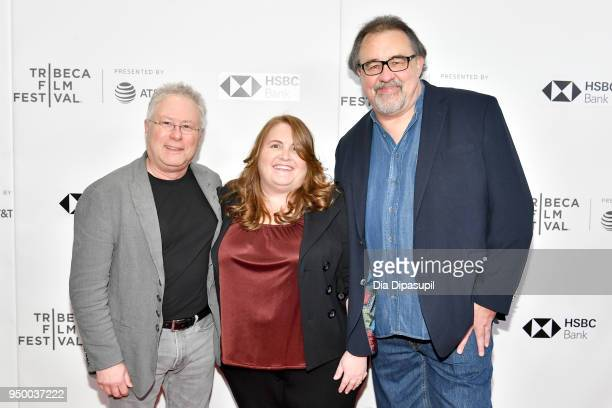 Composer Alan Menken Lori Korngiebel and director Don Hahn attend a screening of 'Howard' during the 2018 Tribeca Film Festival at Cinepolis Chelsea...