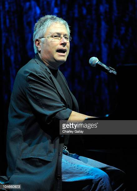Composer Alan Menken performs at Walt Disney Studios Beauty and the Beast SingAlong at the El Capitan Theatre on October 2 2010 in Hollywood...