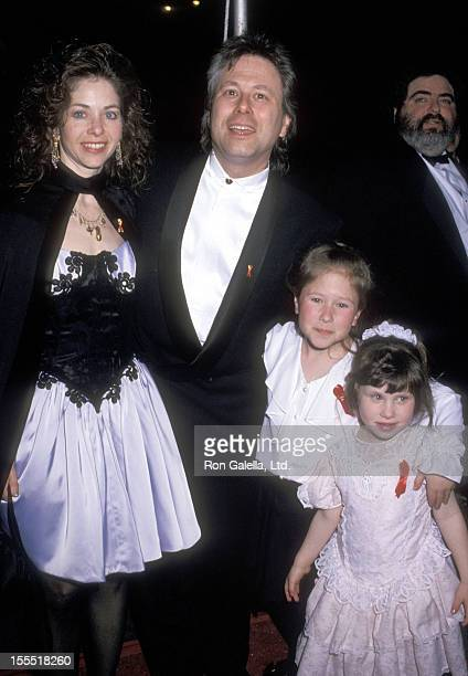 Composer Alan Menken wife Janis Menken and daughters Anna Menken and Nora Menken attend the Beauty and the Beast Opening Night Performance on April...