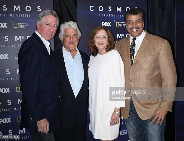 Composer Alan Silvestri producer Mitchell Cannold director Ann Druyan and astrophysicist Neil deGrasse Tyson arrive at FOX And National Geographic...