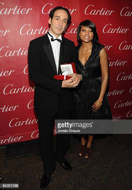 Composer Alexandre Desplat and Actress Taraji P Henson attend the 20th anniversary of the Palm Springs International Film Festival Awards Gala...