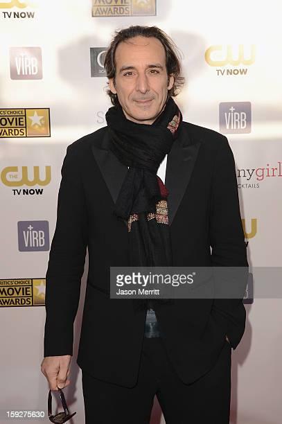 Composer Alexandre Desplat arrives at the 18th Annual Critics' Choice Movie Awards held at Barker Hangar on January 10 2013 in Santa Monica California