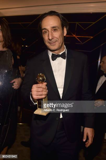 Composer Alexandre Desplat attends Amazon Studios' Golden Globes Celebration at The Beverly Hilton Hotel on January 7 2018 in Beverly Hills California